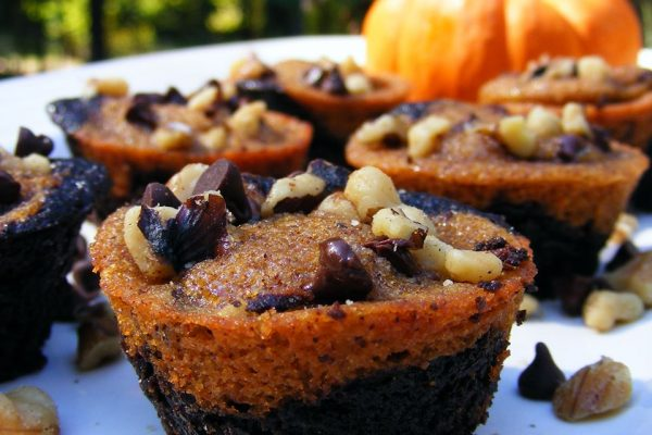 Pumpkin coffee brownies