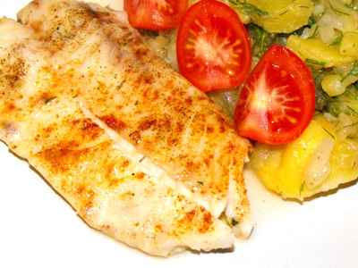 Baked Dory Fish with Fruit